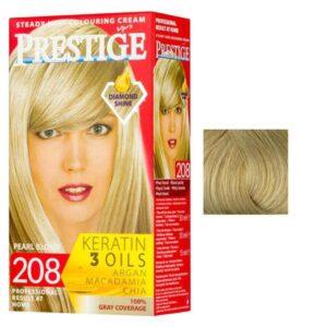 Vopsea pentru Par Rosa Impex Prestige, nuanta 202 Light Blonde