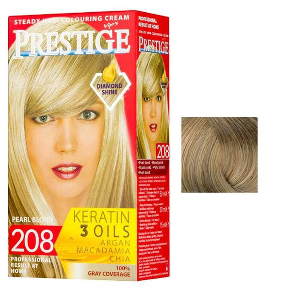 Vopsea pentru Par Rosa Impex Prestige, nuanta 211 Ash Blonde