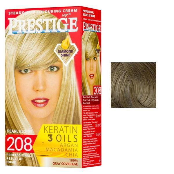 Vopsea pentru Par Rosa Impex Prestige, nuanta 212 Dark Ash Blonde