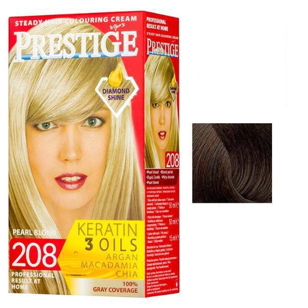 Vopsea pentru Par Rosa Impex Prestige, nuanta 232 Dark Chestnut