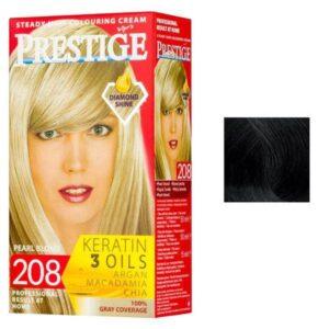 Vopsea pentru Par Rosa Impex Prestige, nuanta 242 Black