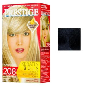 Vopsea pentru Par Rosa Impex Prestige, nuanta 243 Blue Black
