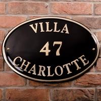 Brass Oval House Sign 52.5 x 37.5cm