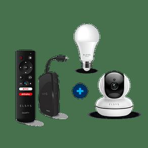 Kit Top Casa Inteligente - Smarty + Lâmpada + Câmera Rotacional