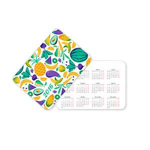 Карманный календарик со скруглением углов, Мелованная Матовая 350 г, Без покрытия