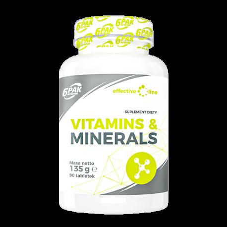 6PAK Nutrition Effective Line Vitamins & Minerals - 90 tabl.