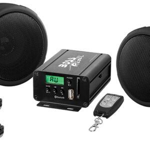 BOSS AUDIO MCBK520B Motorcycle/utv Speaker And Amplifier System Usb/sd/fm 3 INCH Waterproof Speakers Black