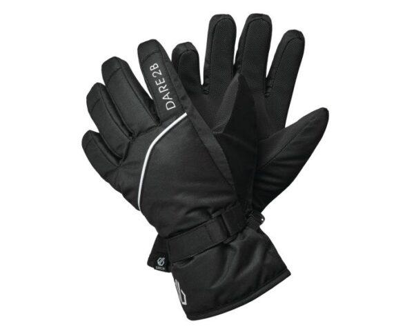Boys' Mischievous II Waterproof Ski Gloves Black White