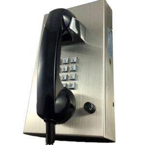 CORTELCO VR16SS Stainless Steel Phone with Armored Cord