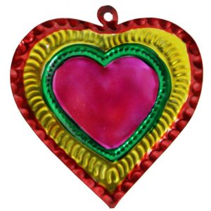 Heart Tin Ornament -Pack of 10
