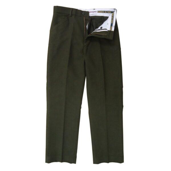 Heritage 1845 Mens Moleskin Trousers Olive 36