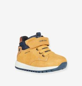 High Top Trainers for Baby Boys, B Alben Boy by GEOX® dark yellow