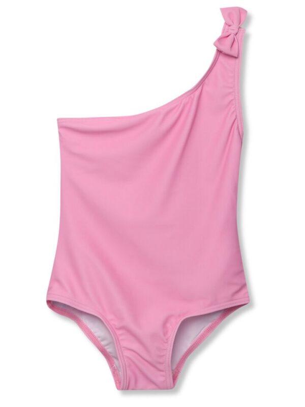 Kids Girls one shoulder swimsu - Pink