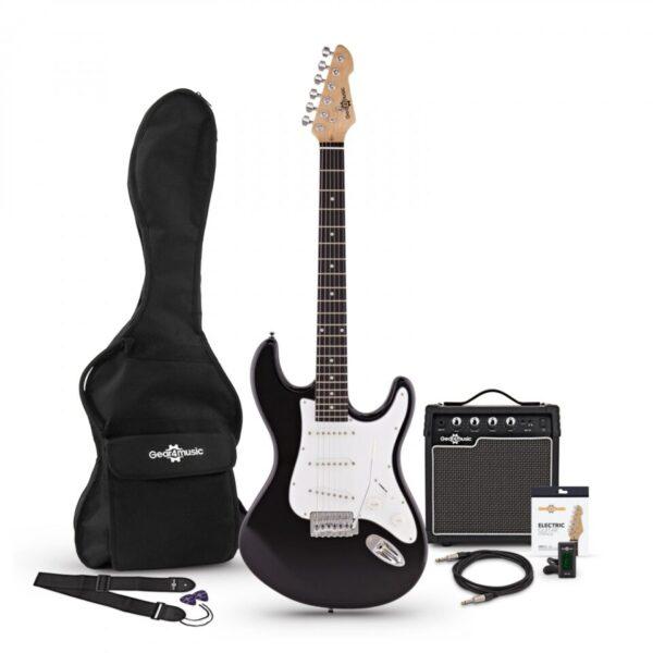 LA Electric Guitar + Amp Pack Black