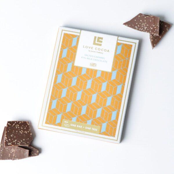 Love Cocoa salted caramel chocolate bar