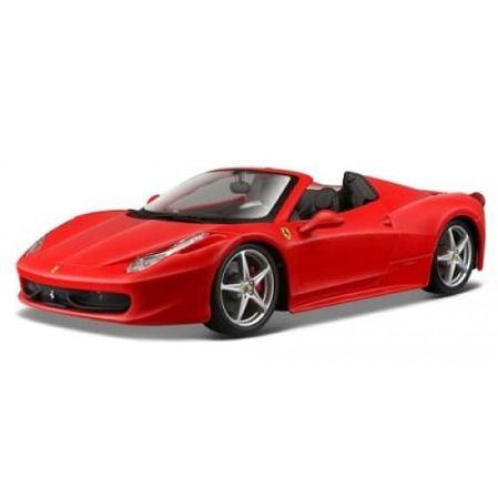 Miniatura - Carro - Ferrari 458 Spider - 1:24 - Bburago Racing - VERMELHO BUR26017