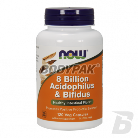 NOW Foods Acidophilus & Bifidus 8 Bilion - 120 kaps.