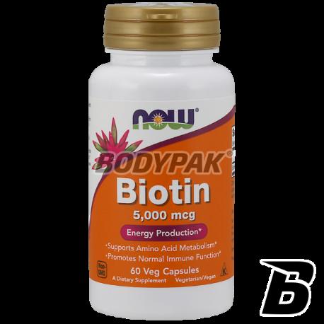 NOW Foods Biotin 5000mcg - 60 vegecaps.