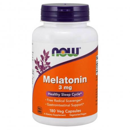 NOW Foods Melatonin 3 mg Veg Capsules - 180 kaps.