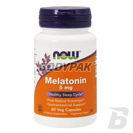 NOW Foods Melatonin 5mg - 60 kaps.