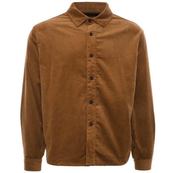 Oversized Shirt Corduroy - Brown