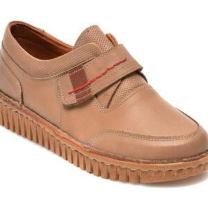 Pantofi PAVARELLA bej, 12, din piele naturala