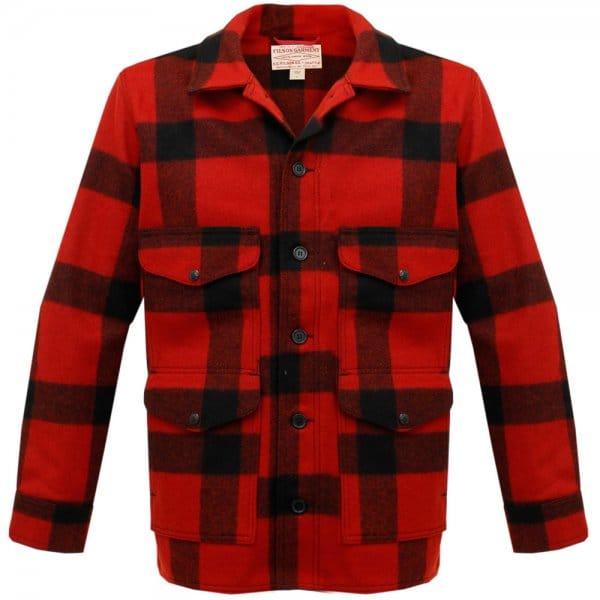 Red & Black Plaid Mackinaw Cruiser Jacket