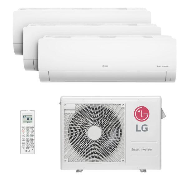 Ar Condicionado Multi Tri Split Hw Inverter Lg 2x9000 + 1x18000 Btus Quente/Frio 220V A3UW24GFA2.AWGZBRZ