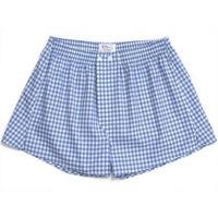 Blue Large Gingham Boxer Shorts - 3+