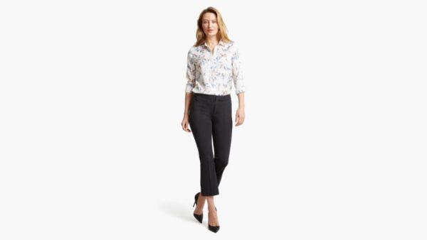 Dockers Cropped Flare Pants, Women's, Black 10