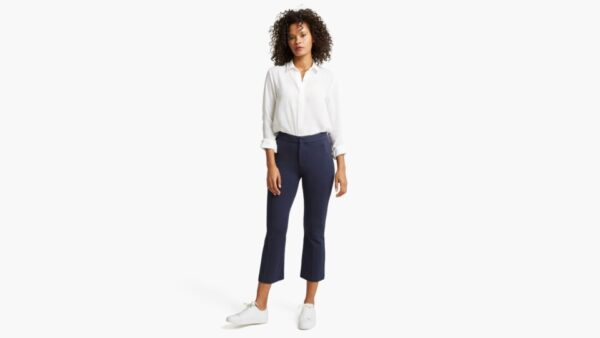 Dockers Cropped Flare Pants, Women's, Blue 10