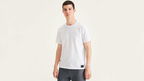 Dockers Icon Tee, Slim Fit T-Shirt, Men's, White XL