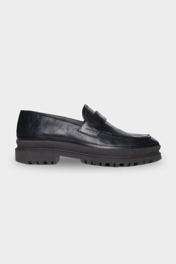 Hero Leather Loafer Jet