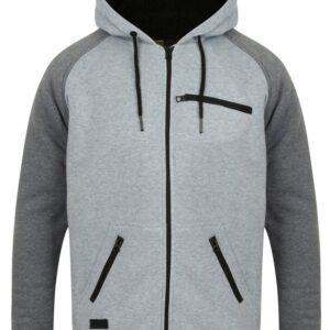 Hoodies / Sweatshirts Cadim Zip Through Hoodie with Borg Lining in Light Grey Marl - Dissident / XXL - Tokyo Laundry