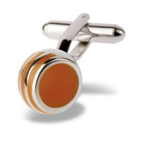 Orange Angled Ball Cufflinks - 1+