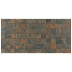 Porcelanato Acetinado Borda Reta Corten Mosaico 52x104cm