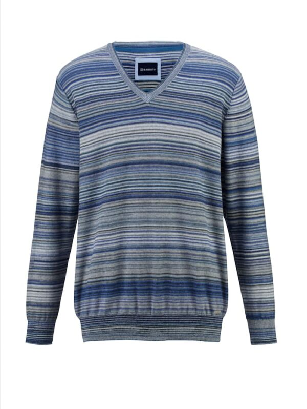Pullover BABISTA Blau::Weiß