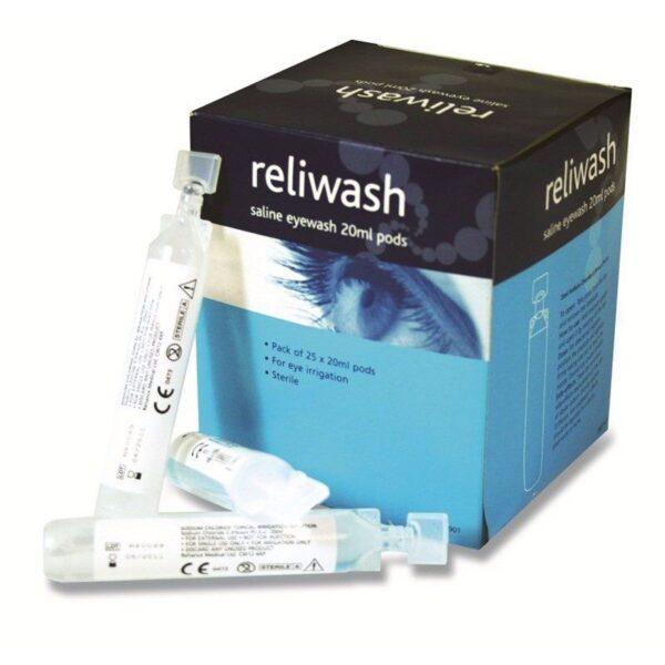 Reliance Medical Reliwash Saline Eyewash - 20ml - Pack of 25