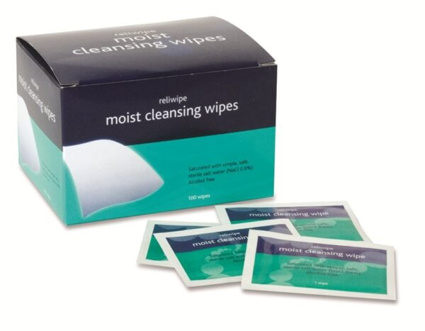 Reliance Medical Reliwipe Moist Cleansing Wipes - Pack of 100